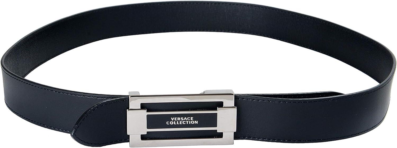 Versace Collection 100/% Leather Black Reversible Mens Belt Sz US 36 IT 90