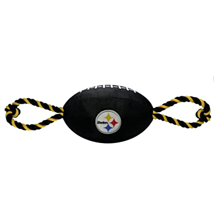 Amazon.com  Pets First NFL Pittsburgh Steelers Football Dog Toy ... 1c92e089a