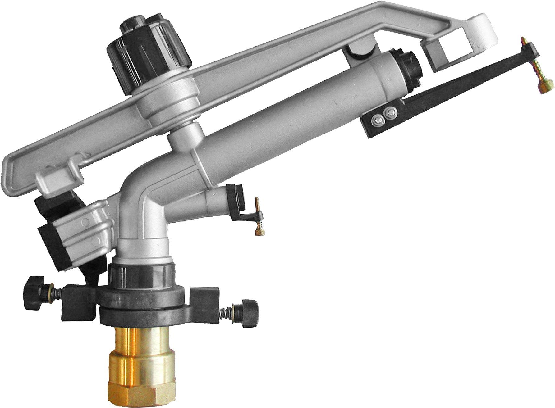 IrrigationKing RK-67 1-1/2'' FNPT Impact Mini-Gun Sprinkler with Nozzle Set - (12, 14, 16 mm) x 5 mm, NPT Female, 103.3 GSM Maximum Flow Rate