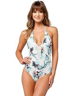 Amazon.com: Roxy Women s sol Surf traje de baño de una ...
