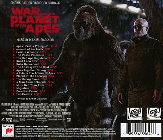 Image result for score WAR FOR THE PLANET OF THE APES