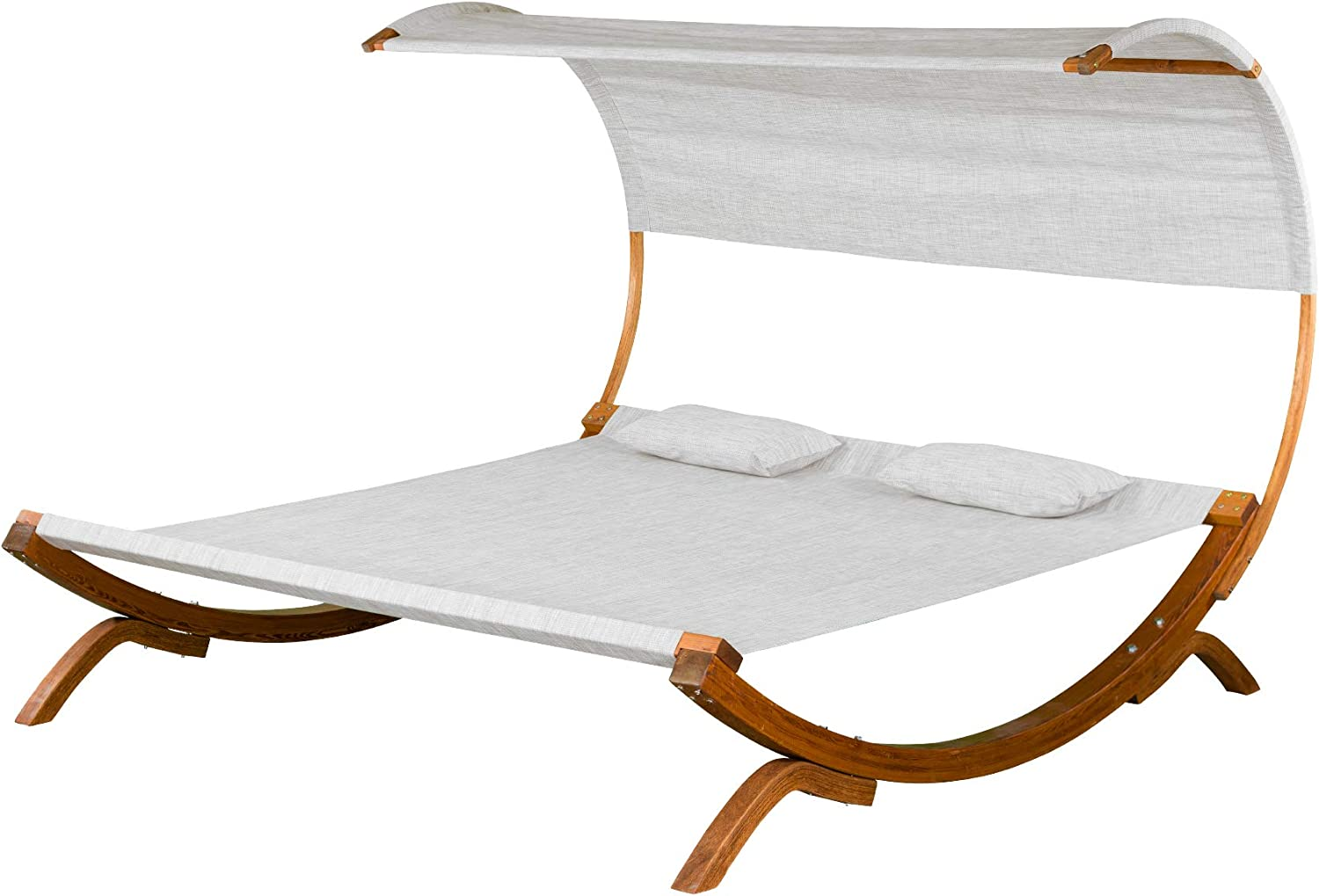 Leisure Season SNBC403 Sunbed with Canopy - 500 lbs Weight Capacity
