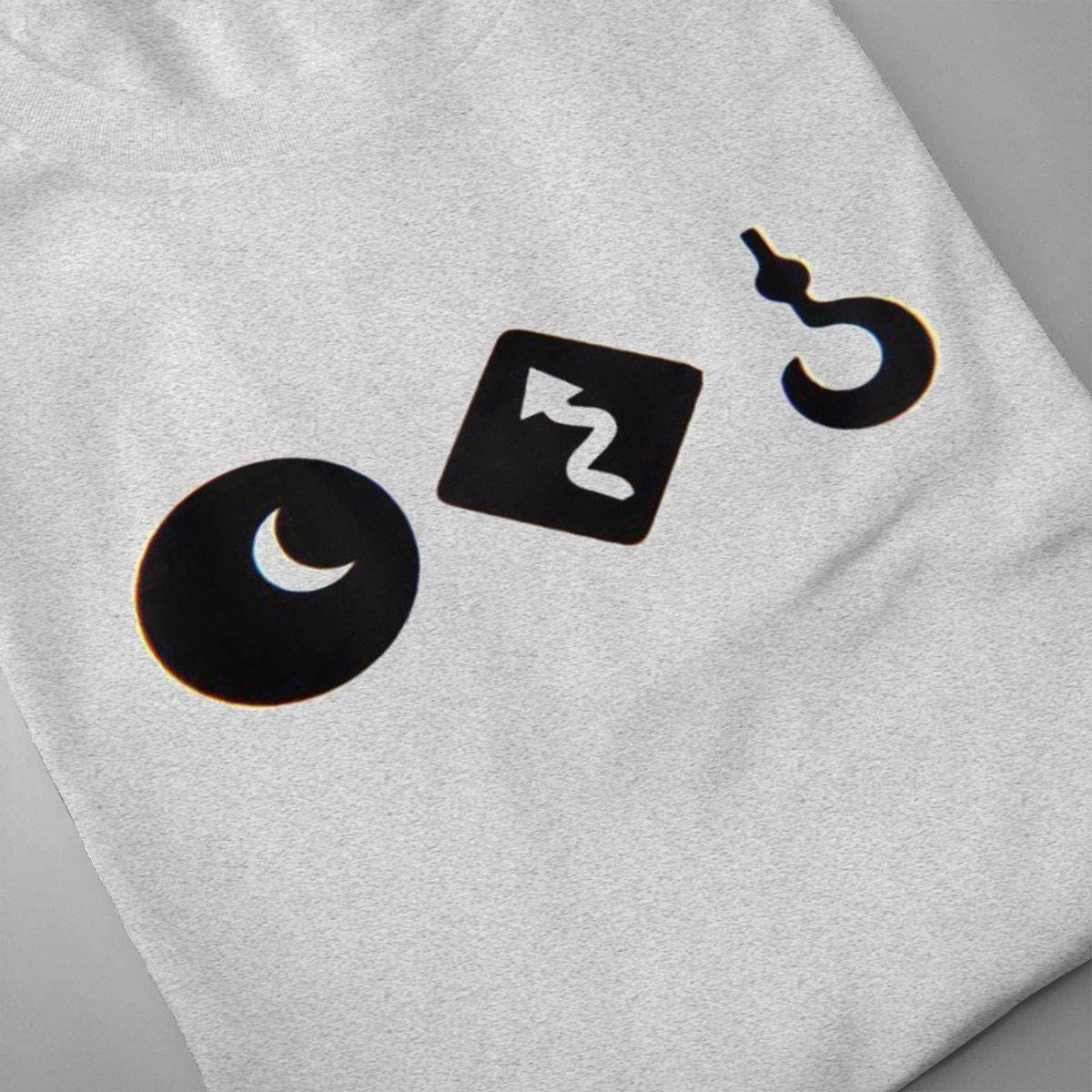 SHENGN Men Personalized Casual Fish Night Love Death Robots Logo Short Sleeve Humor T-Shirt Gray