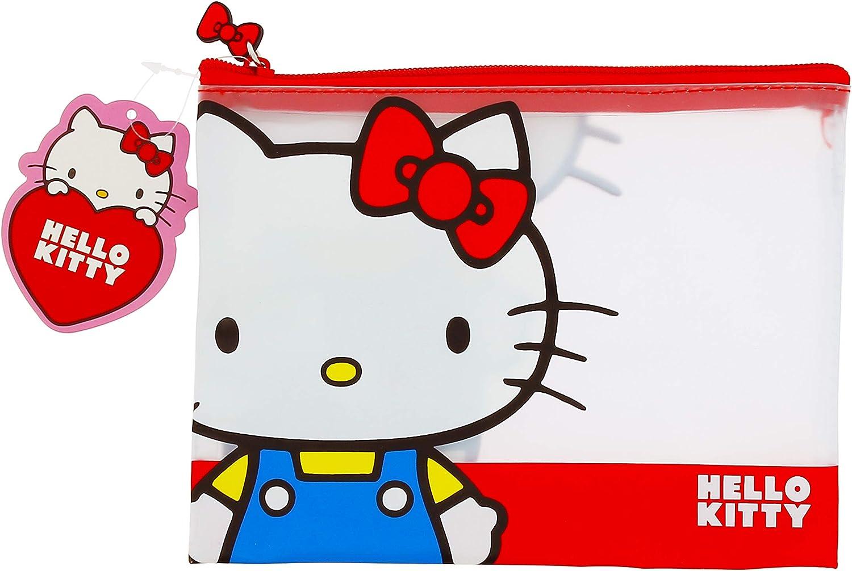 Hello Kitty Essential Astuccio portapenne in PVC trasparente doppio design
