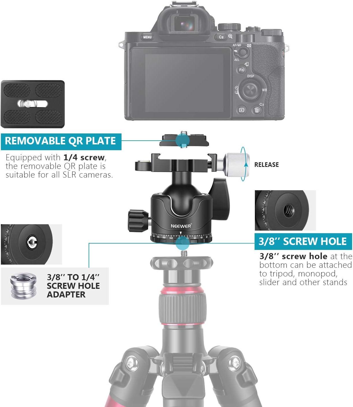 Neewer Professionelle 35mm Niedrige Profil Kugelkopf Kamera