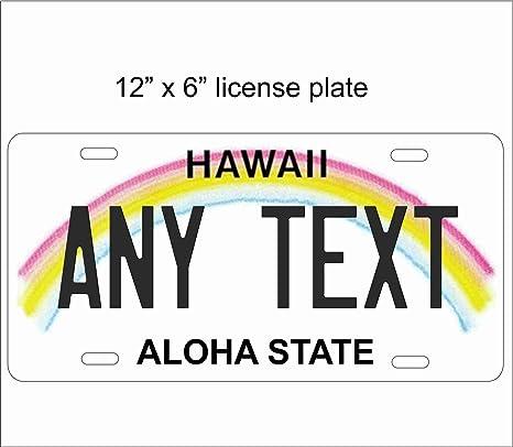 Amazon.com: Hawaii State Replica - Placa de matrícula para ...