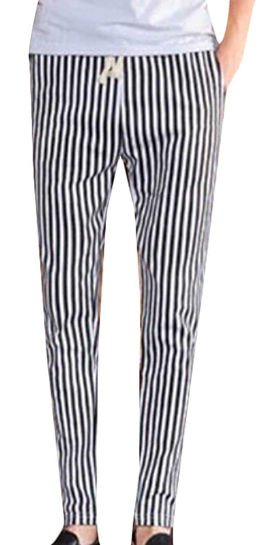 ouxiuli Mens Elastic Waist Solid Pants Casual Harlan Pants Trousers