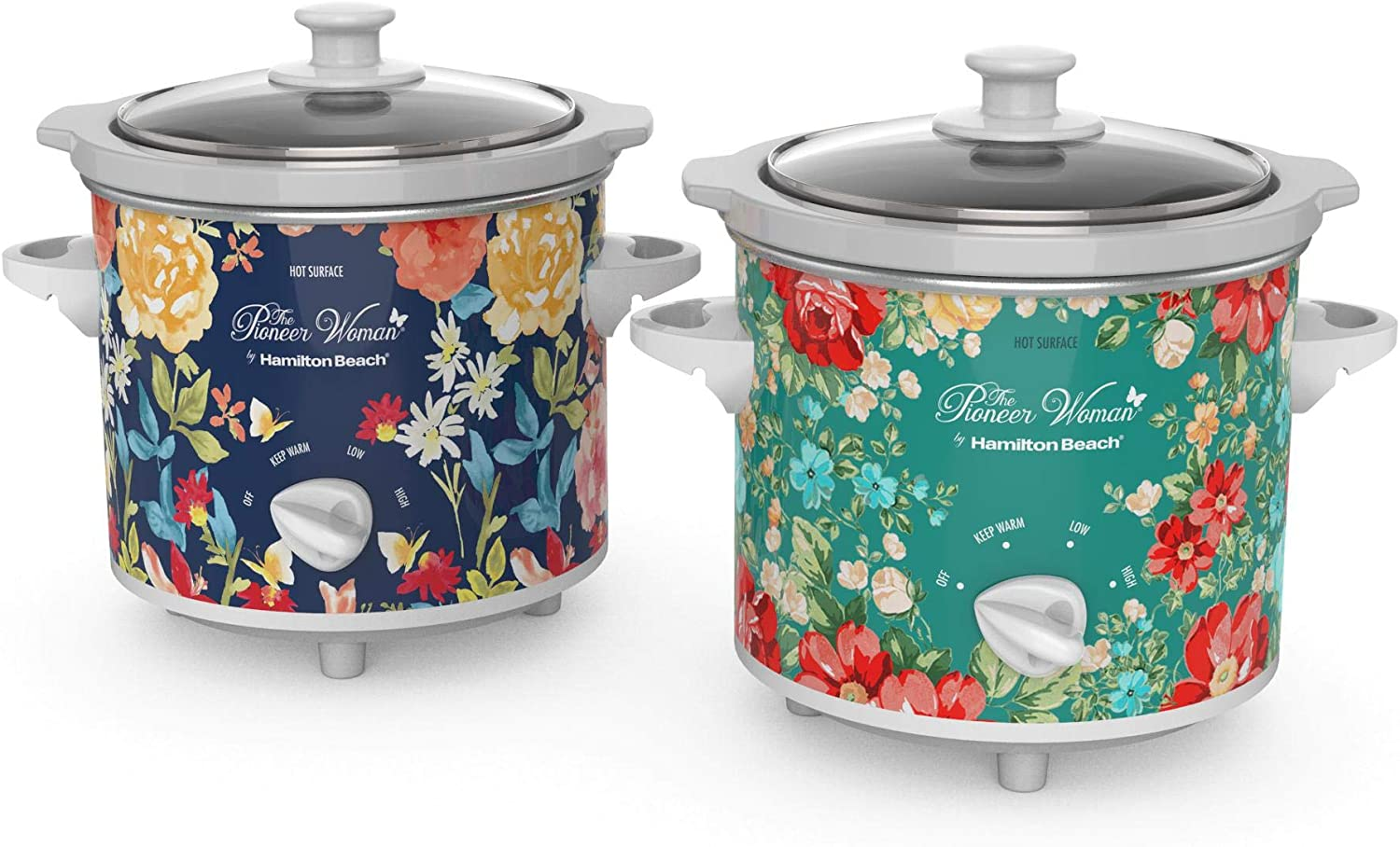 Pioneer Woman 1.5 Quart Slow Cooker (Set of 2) Fiona Floral/Vintage Floral | Model# 33016 by Hamilton Beach (6)