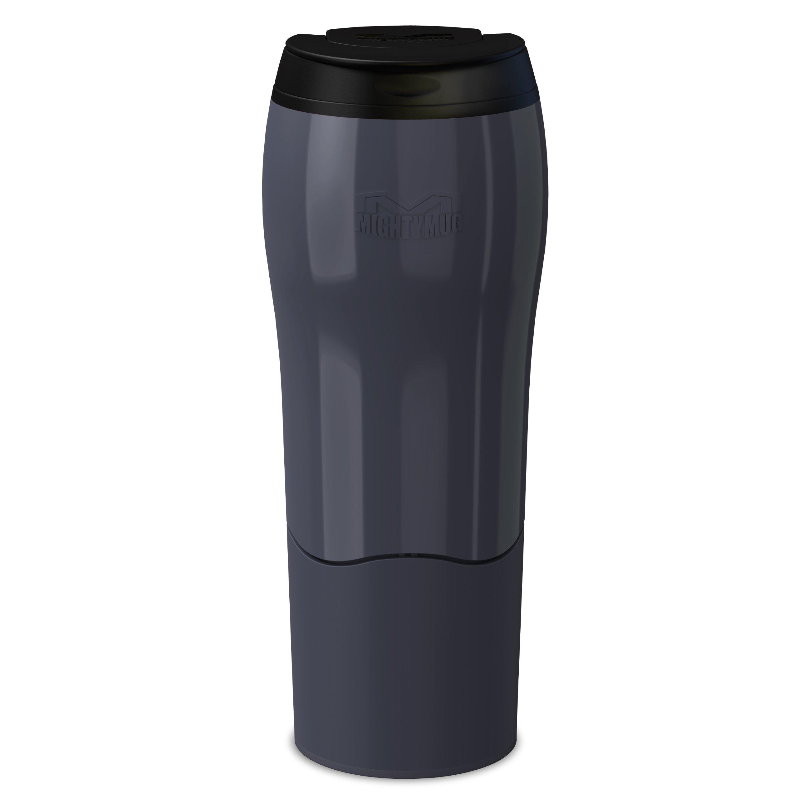 Dexam Mighty Mug Travel Mug 'the mug that won't fall over' Thermos in Charcoal Black 17920227