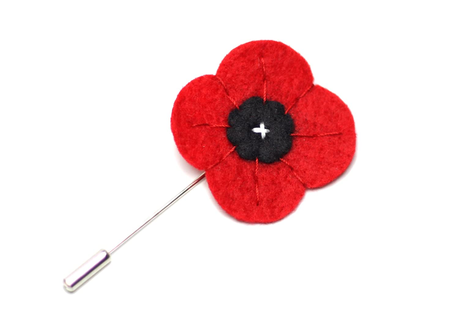 Amazon Mellys Bow Mens Poppy Wool Felt Lapel Flower 15 Red