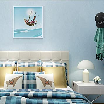 AIEK Hellgrün Lila Gelb Blau Vliestapete Wohnzimmer Schlafzimmer Moderne  Einfache Plain Solid Color Tapeten, Days