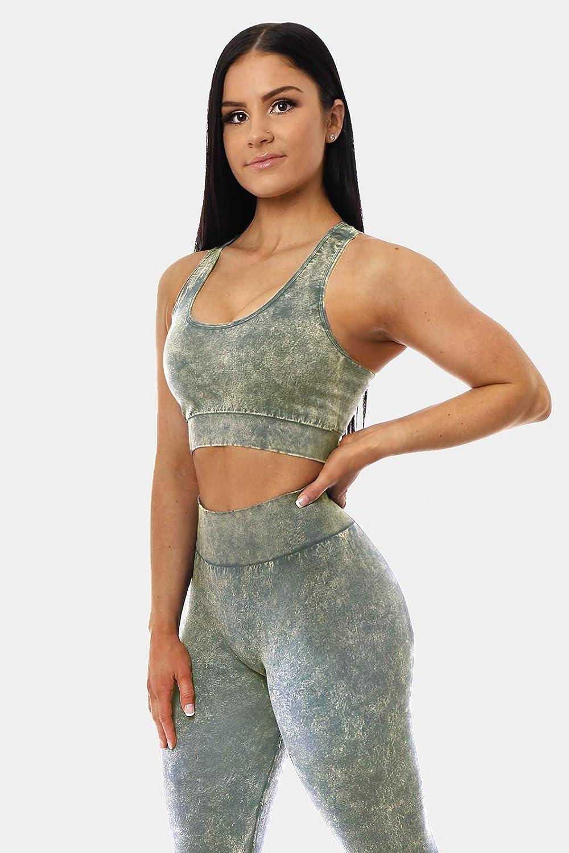 Jed North Womens Seamless Gym Yoga Fitness Workout Sports Bra