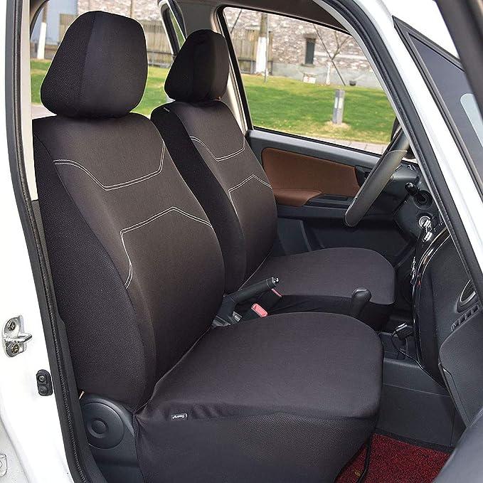 Mr E Saver/© Heavy Duty Black Waterproof Car Seat Covers Front Pair 1+1 MREHDB3834