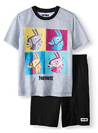 433a9582c Amazon.com: Boys' Fortnite 2 Piece Pajama Sleep Set: Clothing