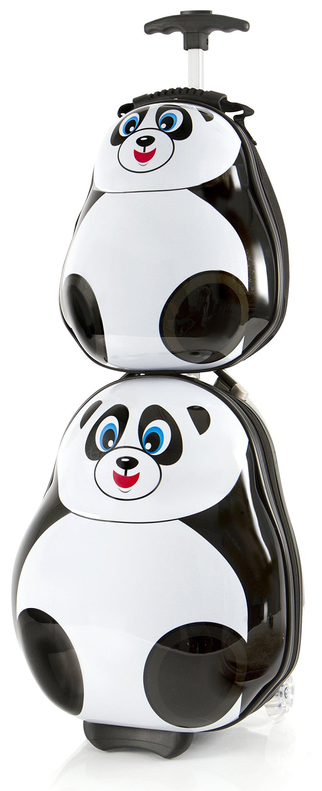Heys America Travel Tots Kids 2 Pc Luggage Set -18'' Carry On Luggage & 13'' Backpack (Panda)