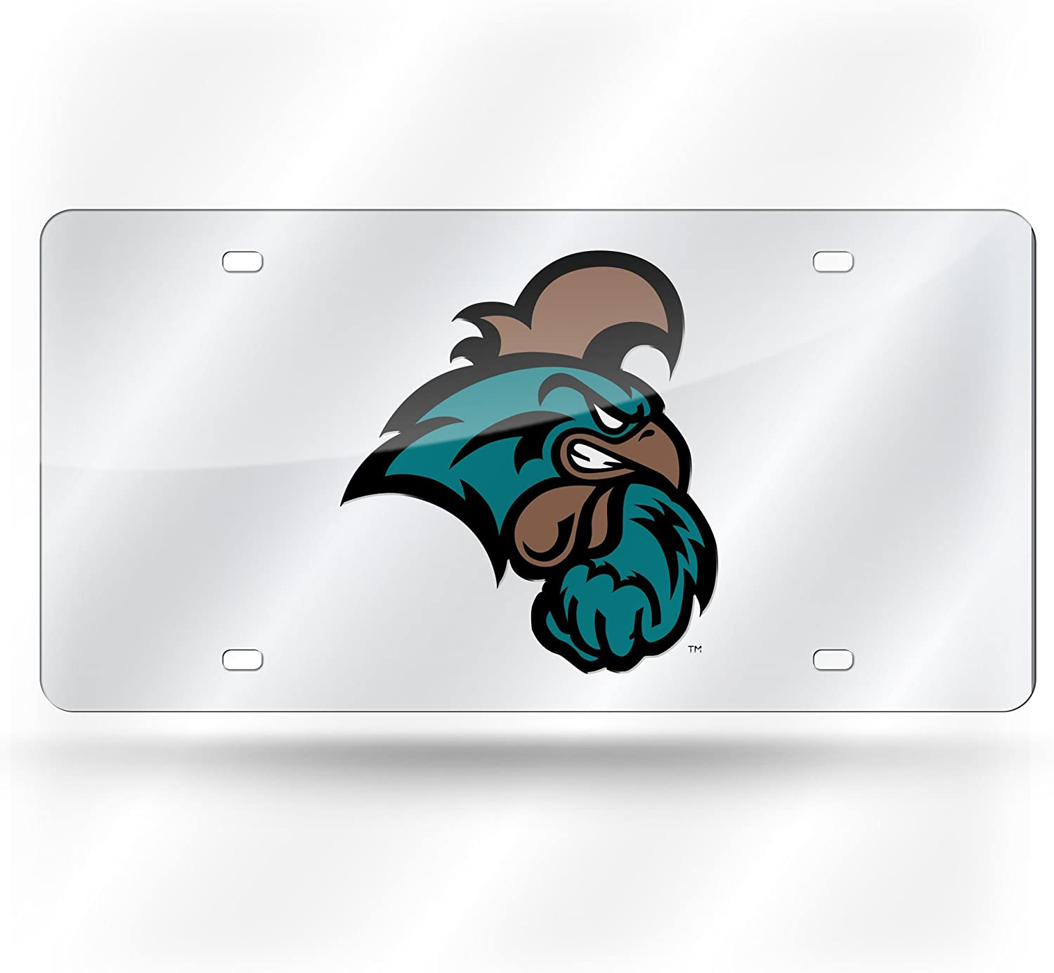 NCAA Rico Industries  Laser Inlaid Metal License Plate Tag Coastal Carolina Chanticleers
