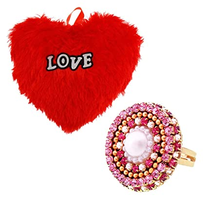 Buy Valentine Gift House Combo Of Valentine Gift Heart Shape Pillow