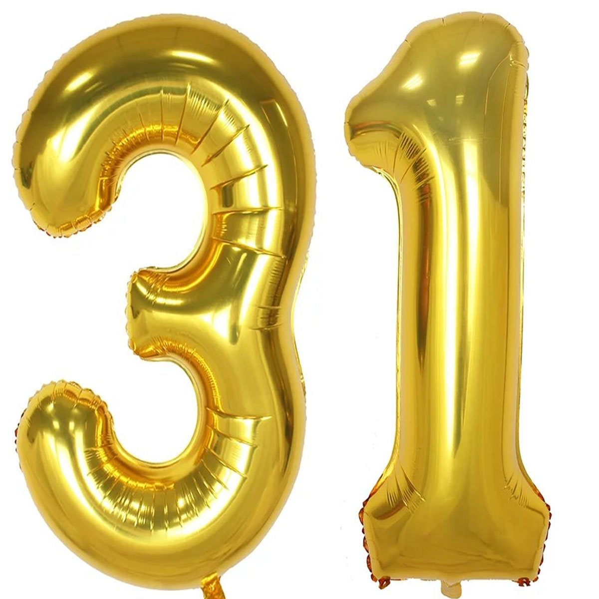 40inch Gold Foil 31 Helium Jumbo Digital Number Balloons 31th Birthday Decoration For Girls Or