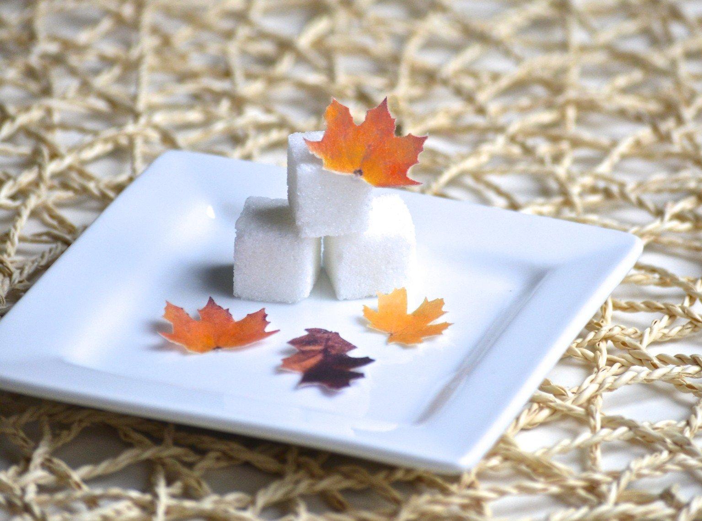 Mini Edible Fall Leaves - Set of 48 - Cake Decorations, Cupcake Topper