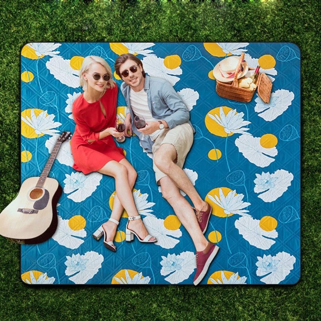 ShenZuYangShop Picknickdecken Picknick-Matte Feuchtigkeitsfest Outdoor Outdoor Outdoor Frühling Tour Matten Matten Verdickt Picknick Tuch Picknick Camping Tragbare Matten (Farbe   Blau, Größe   200  200cm) B07Q97YRZ1 Picknickdecken Leidenschaftliches Leben 9f2ff1