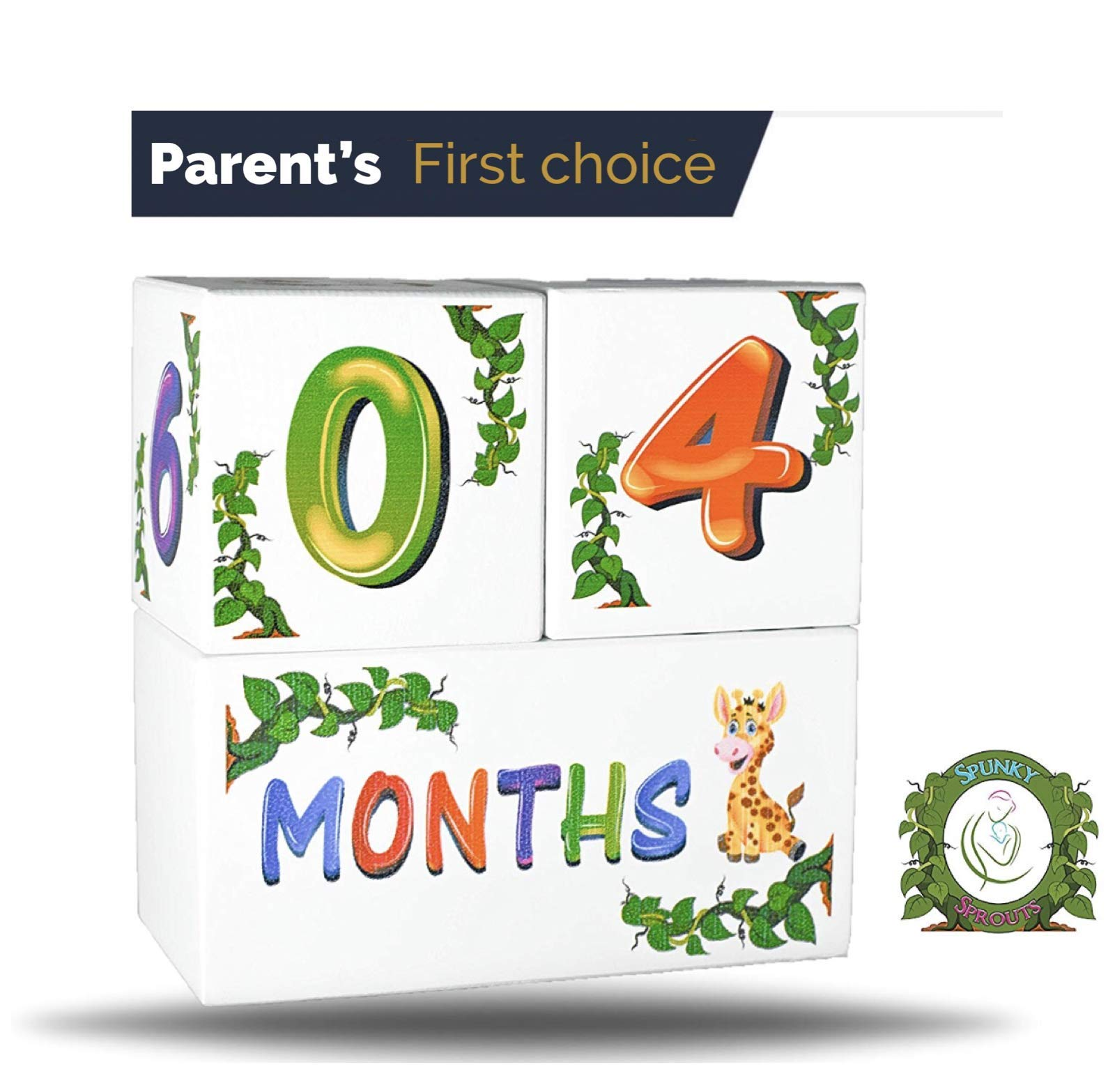 Premium Wood Milestone Age Blocks   Week, Month, Year, Grade Pictures   Growth Newborn Age Photo Blocks   Perfect Baby Shower Gift and Keepsake by Spunky Sprouts