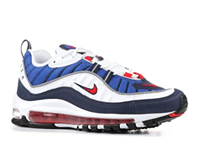 53a82c0b54 Nike Womens W Air Max 98 quot Gundam White Red-Blue Leather ...