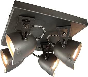 Brilliant KA Foco Burned Steel Metal Techo 20/W