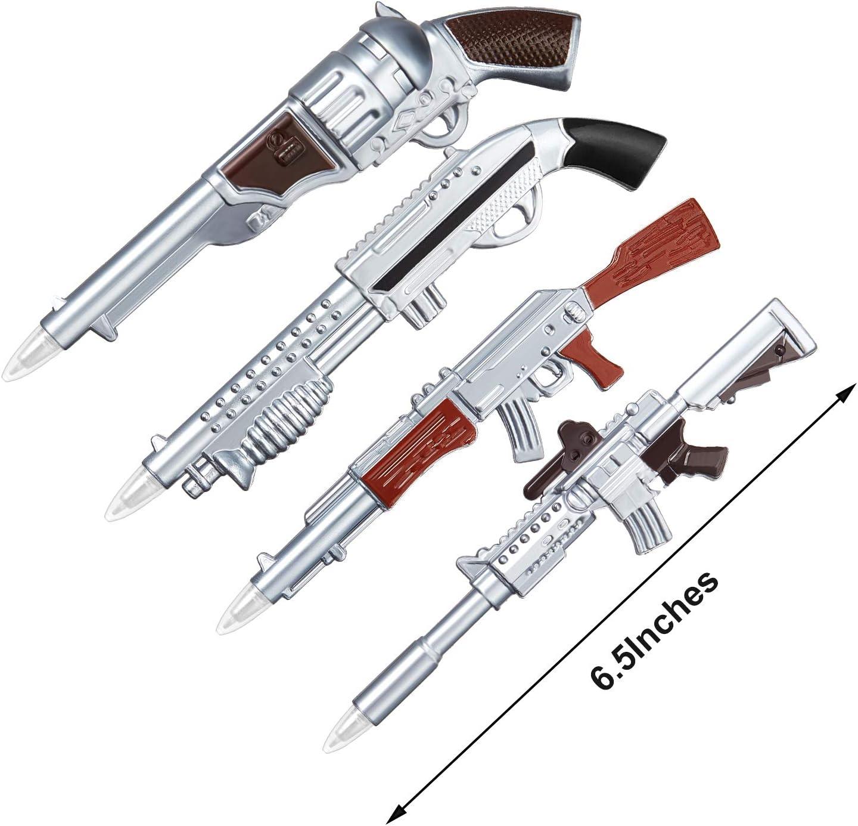 12 Piezas Bol/ígrafos en Forma de Pistola Bol/ígrafos de Gel de Juguete de Pistola con Im/án para Papeler/ía Oficina Escuela Divertida Regalo de Ni/ños