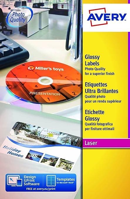 3 opinioni per Avery Italia L7776-25 Etichette per DVD, 2 Pezzi per Foglio, Stampanti Laser,