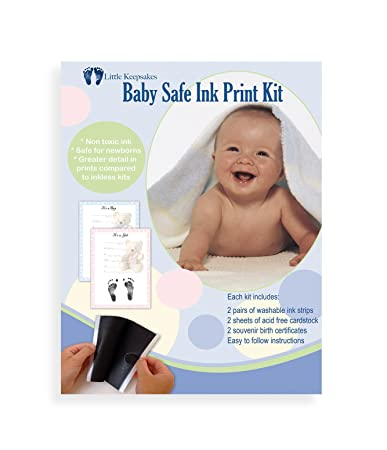 Amazon.com : Washable Baby Safe Ink Print Kit for Hands & Feet ...