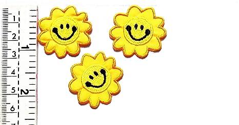Juego de mini parches de girasol, diseño de cara feliz, color ...