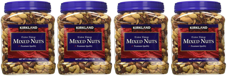 Kirkland Signature xPFUix, Extra Fancy Mixed Nuts 40 Ounce (Pack of 4)