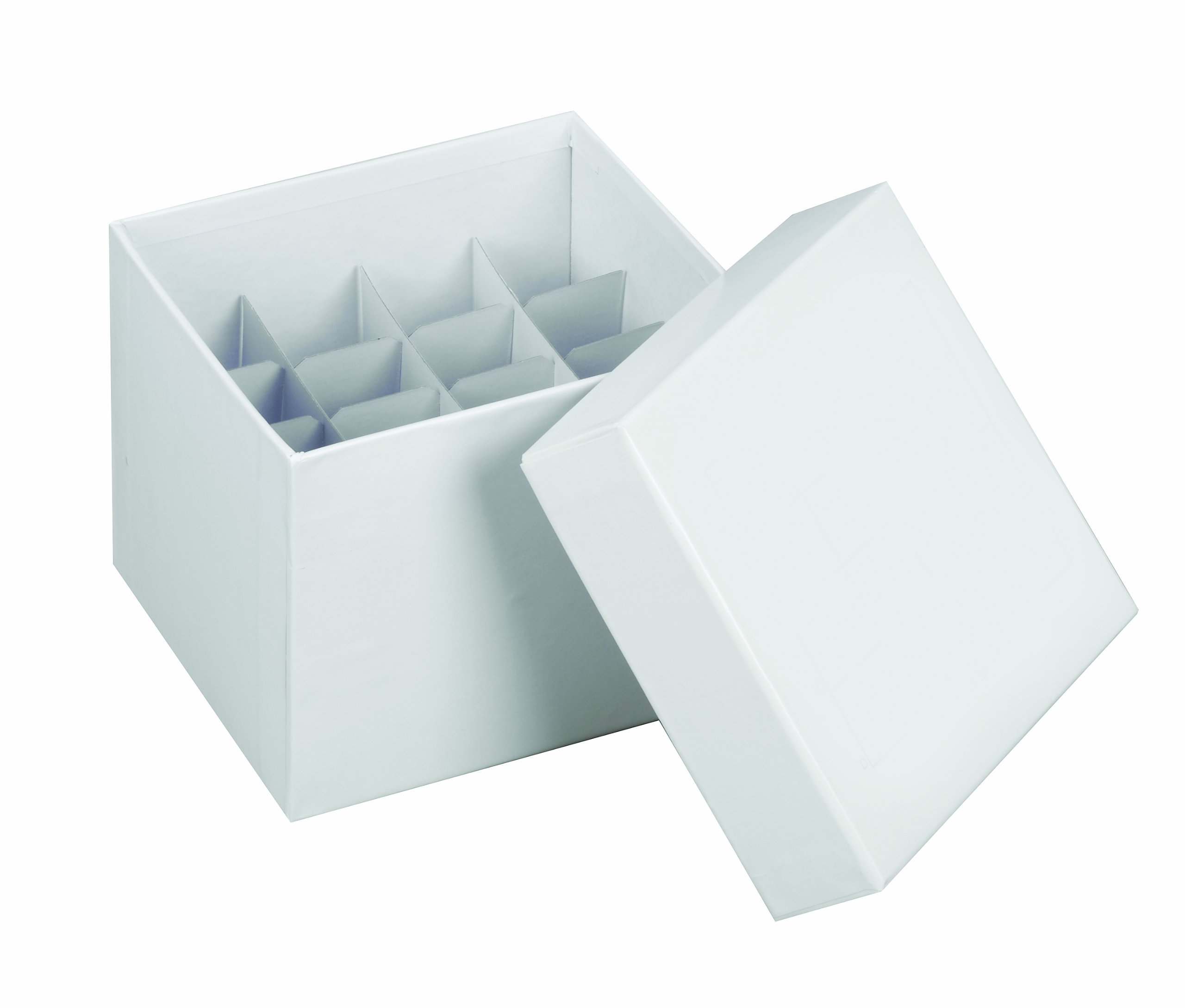 Heathrow Scientific HD2860M 15 and 50mL Tube Cardboard Cryogenic Box with Lid, 145mm Length x 145mm Width x 122mm Height (Pack of 10)
