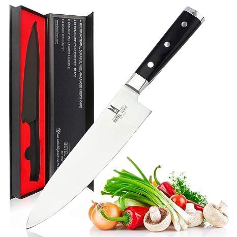 Magicdo Cuchillo de Cocina de 20 cm Cuchillo Chef Profesional Cuchillo Carne de Cuchillo de Uso General Cuchillo Cuchillos de Acero Inoxidable para ...