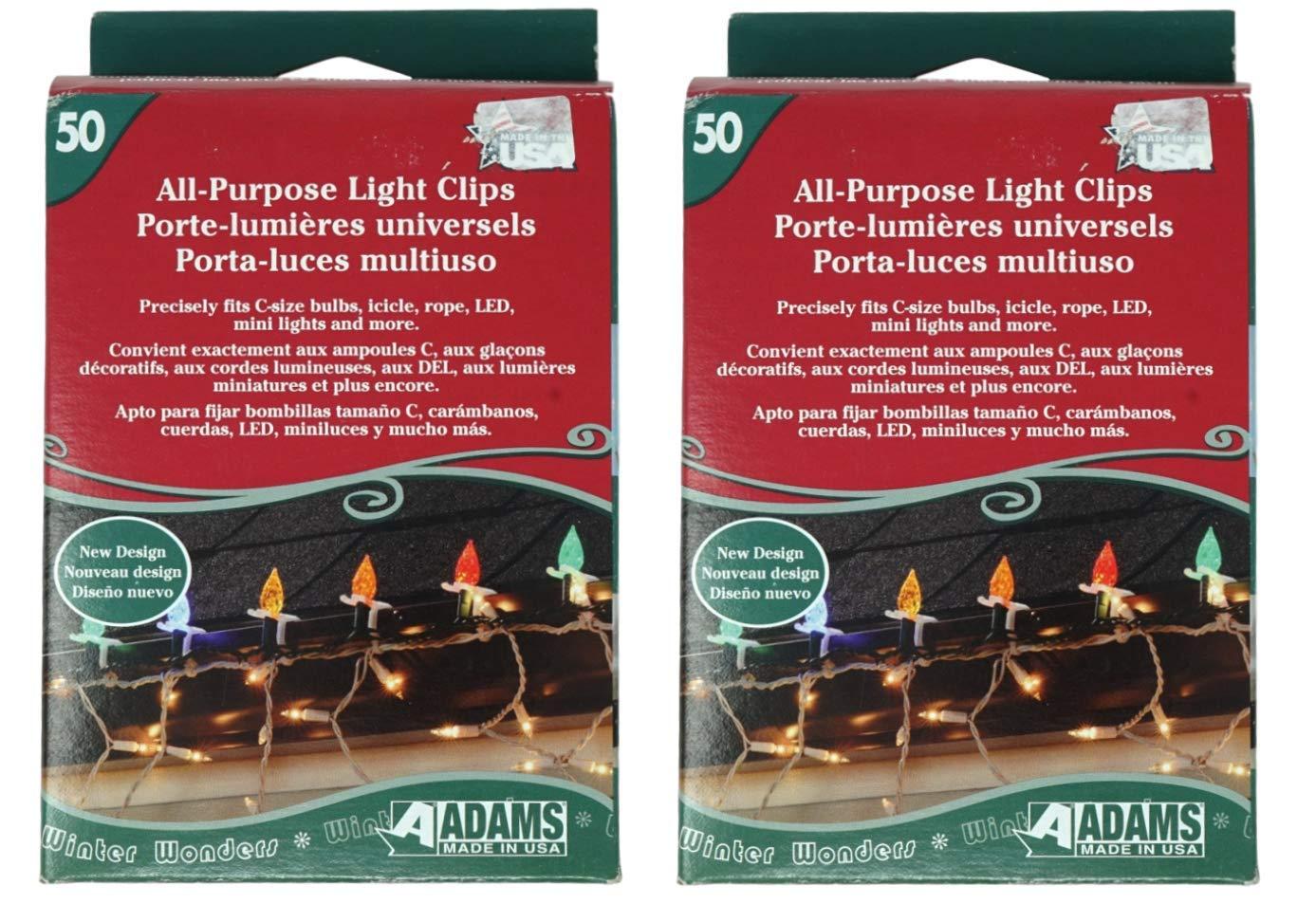 Amazon.com : Adams USA Light Clips for Outdoor String Lights, Strip Lights, Christmas Lights, and Home Decor Led Lights, 100 Clips : Garden & Outdoor