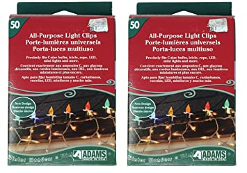 Adams USA Light Clips for Outdoor String Lights, Strip Lights, Christmas Lights, and