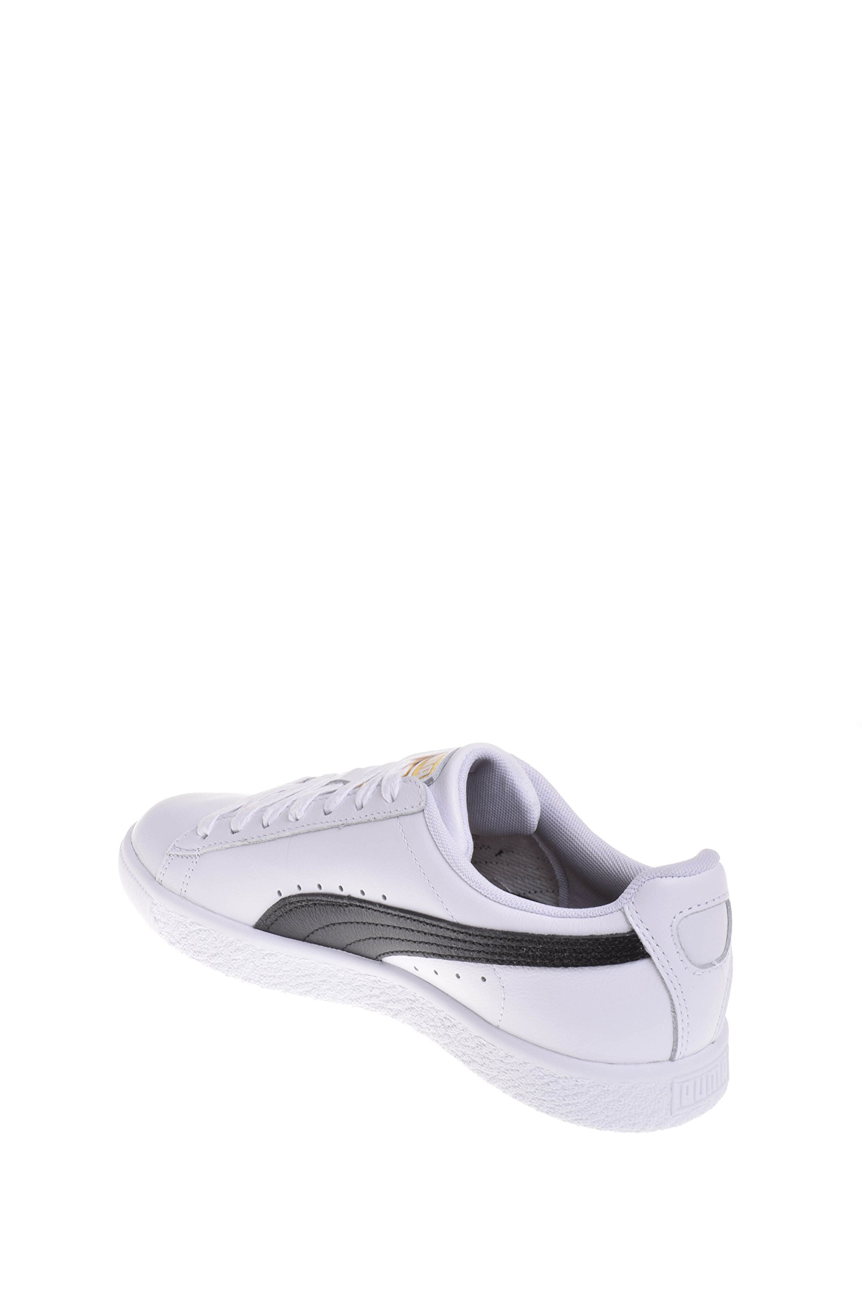 new concept 55c60 d8680 PUMA Women's Clyde Core L Foil Puma White/Puma Black/Puma Team Gold 10 B US  B (M)