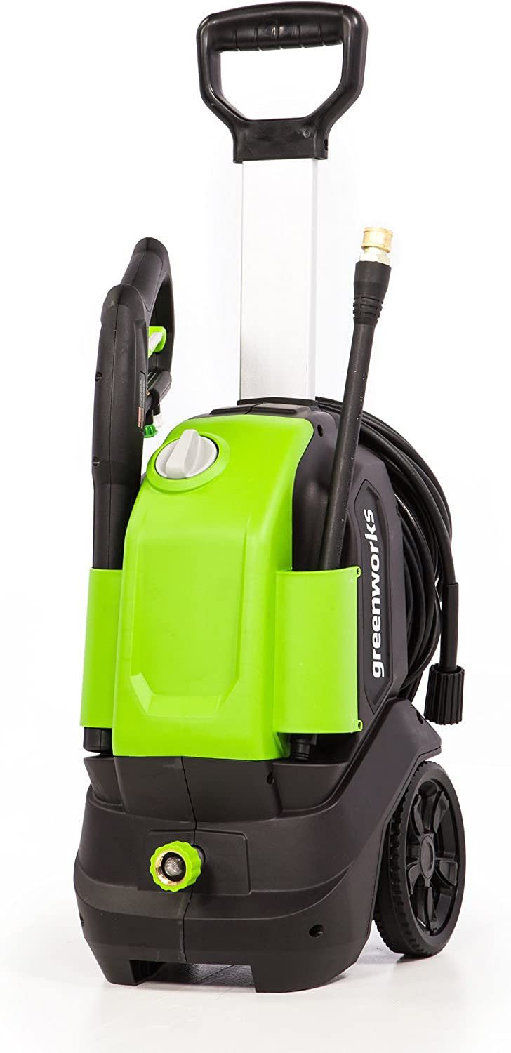Greenworks GPW1703 1700 PSI 1.2 GPM Vertical Pressure Washer, green
