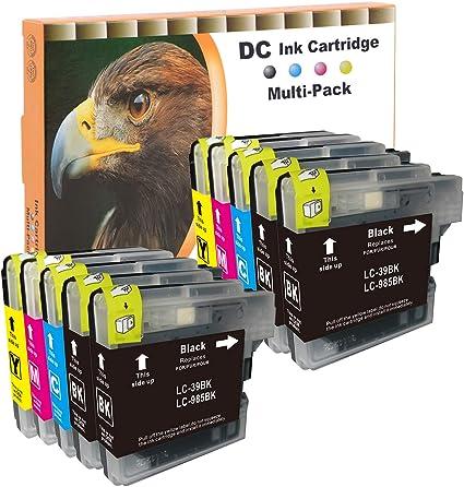 10 Cartuchos de impresora para Brother LC985 LC39 lc975 DCP J125 ...