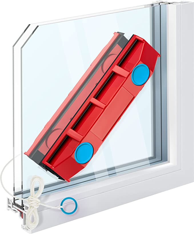 The Glider D-2, Limpiacristales Magnético para Ventanas de Doble Acristalamiento de 8-18 mm de Grosor: Amazon.es: Hogar