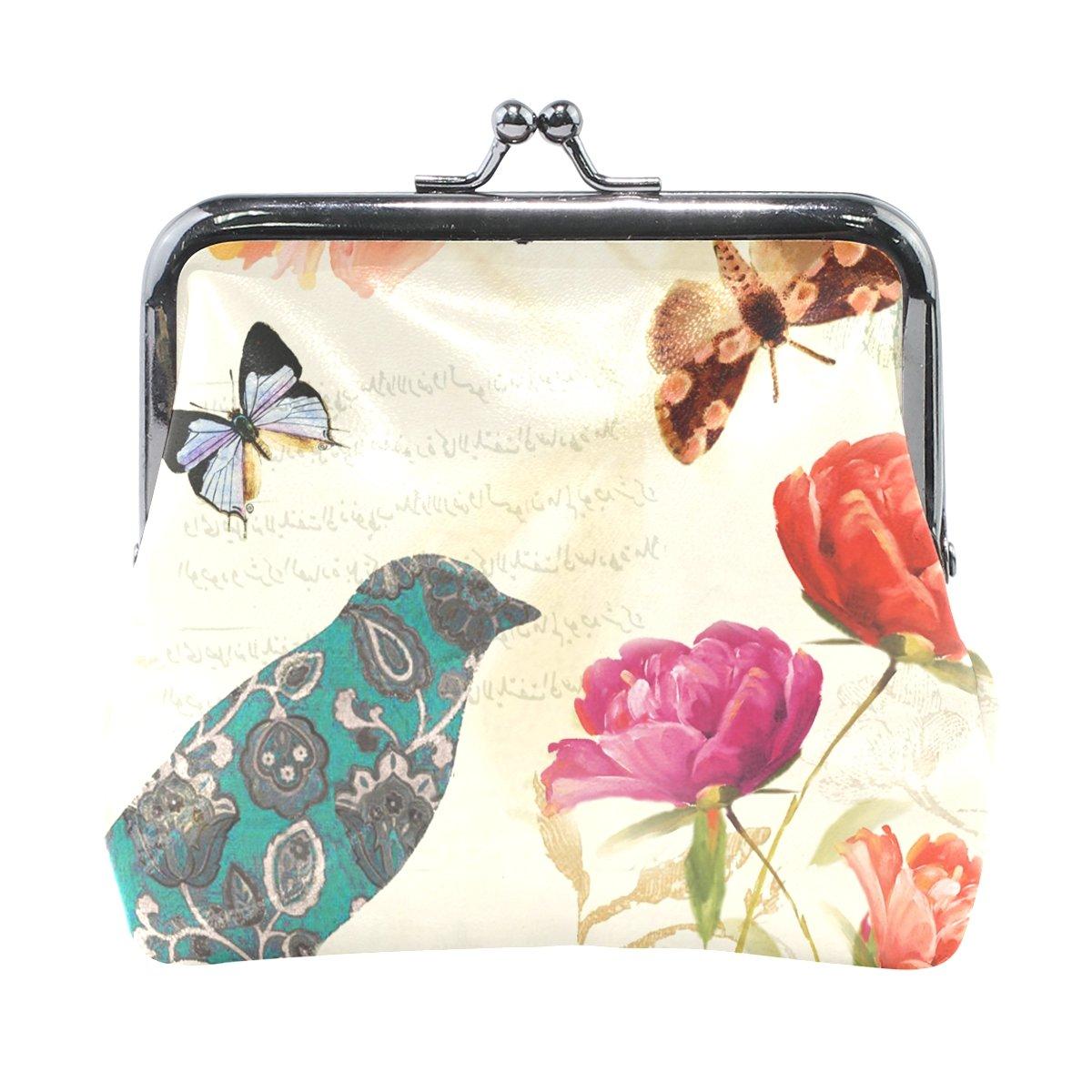 Amazon.com: Monedero para mujer, diseño de mariposas, cierre ...