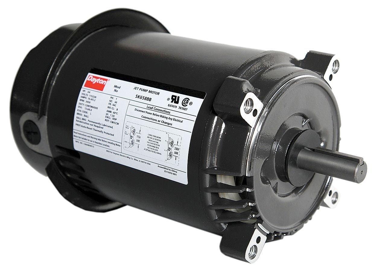 Dayton 5K658 Motor, 3/4hp, Jet Pump