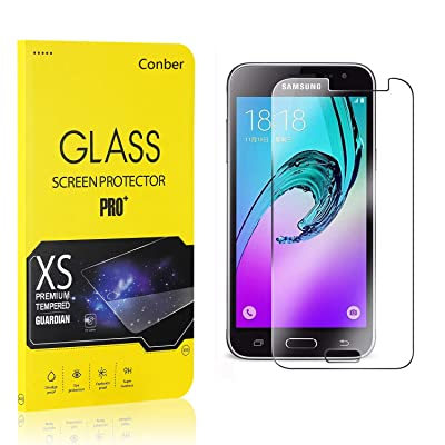 Conber (2 Pack) Screen Protector for Samsung Galaxy J1 2016, [Scratch-Resistant][Anti-Shatter][Case Friendly] Premium Tempered Glass Screen Protector for Samsung Galaxy J1 2016: Baby