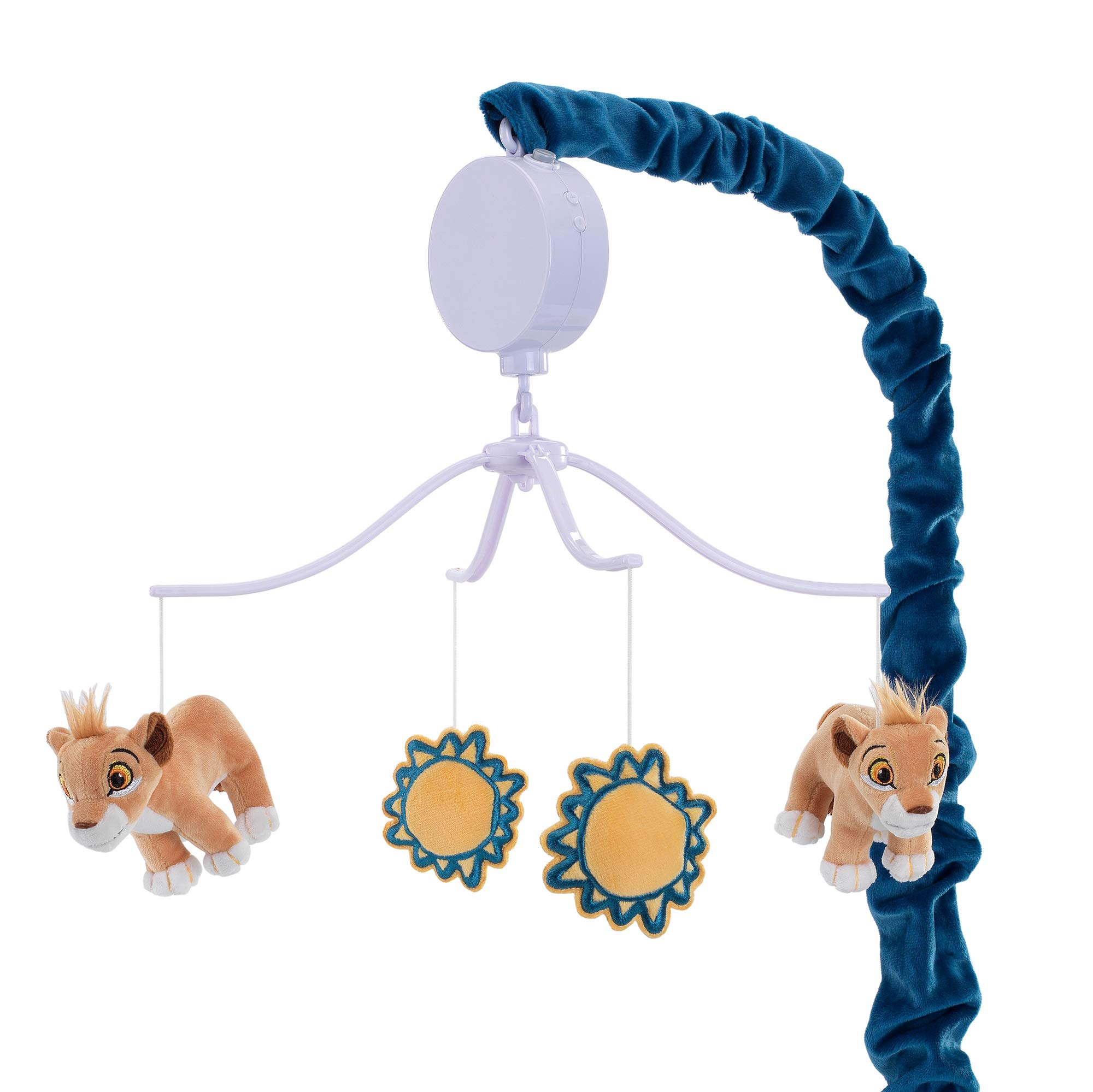 Lamb & Ivy Disney Baby Lion King Adventure Musical Baby Crib Mobile, Blue