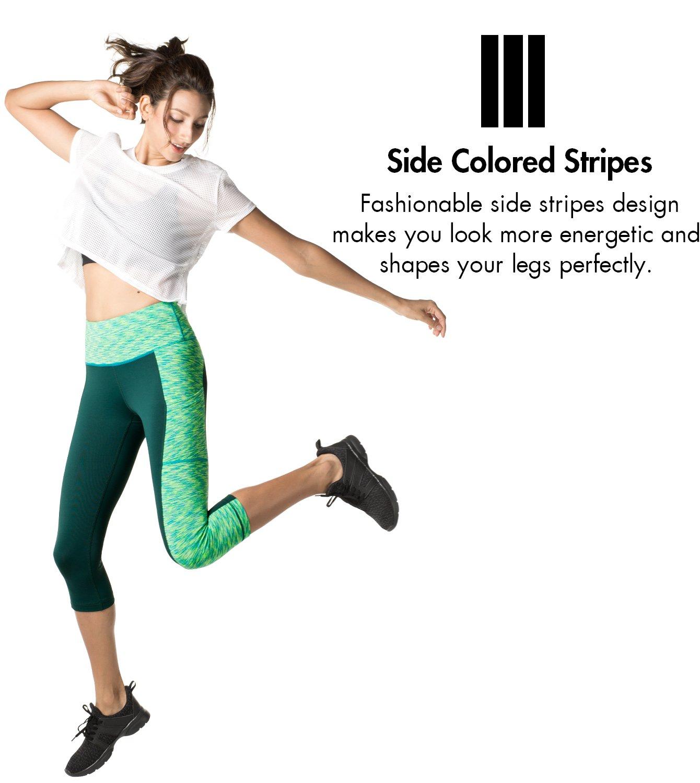 8c4d12eeb574ad LAPASA Damen Capri Leggings 3 4 Sport Yoga Pants Knielang Blickdicht ...