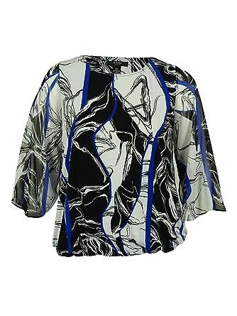 10003bff759dee Alfani Women s Chiffon Sleeve Bubble Hem Top (0X