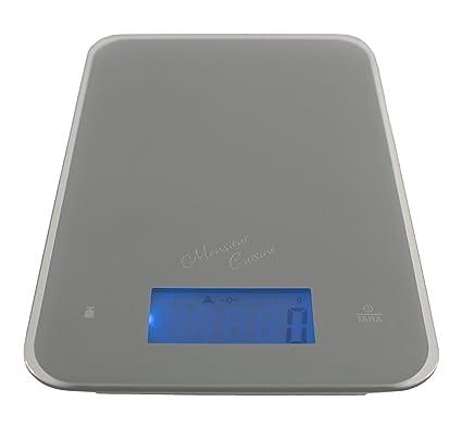 Monsieur Cuisine - Báscula digital de cocina, medición hasta 5 kg, precisión de un