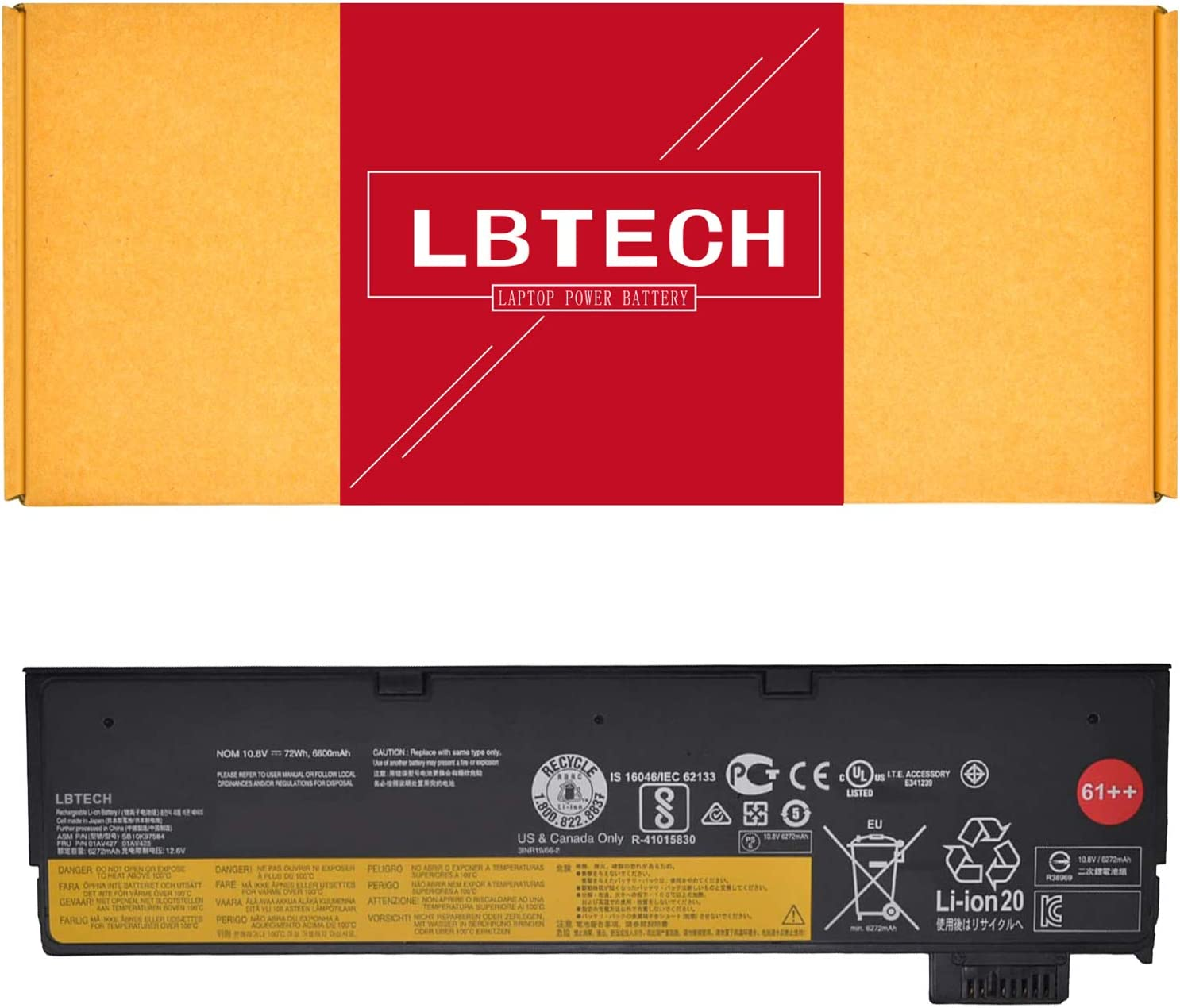 Bateria 01av425 Sb10k97582 61++ Para Thinkpad T470 T480 P51s