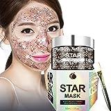 Stelle Viso Maschera Peel Off Maschera Facciale profondità Maschera Pulizia in profondità controllo di olio idratante Peel Off lucido maschera+Pennello maschera (100g)