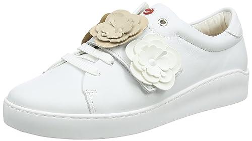 Cherry, Zapatos de Cordones Derby para Mujer, Blanco (White Taupe Beige 04), 38 EU Nobrand